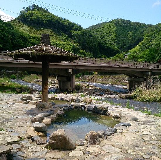 鏡野町奥津温泉「露天風呂」