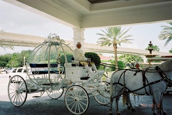 本物のガラスの馬車(ディズニーワールド)