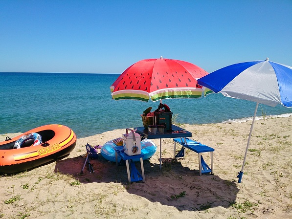 海水浴(浜辺の様子)