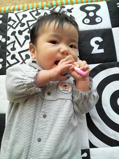 歯磨きする赤ちゃん