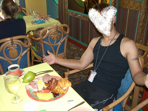 ディズニークルーズでのビュッフェスタイル朝食