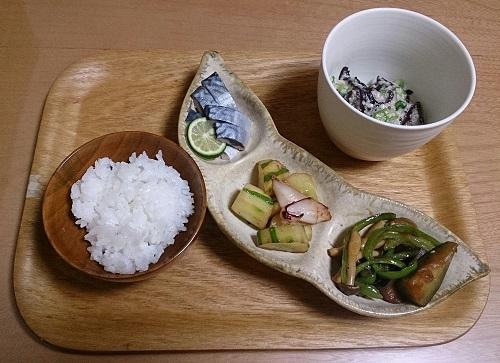ダイエット中の食事例(夕食)