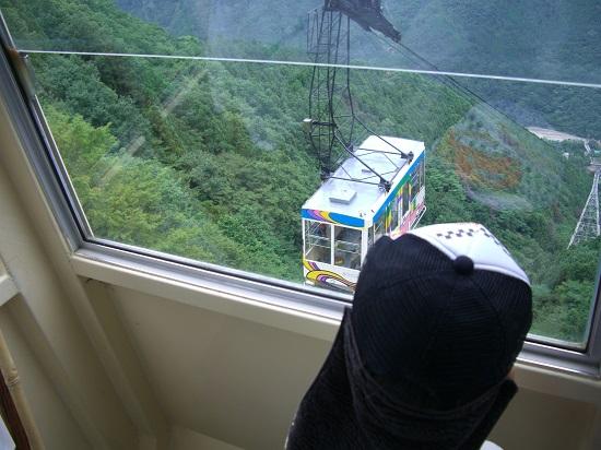 石鎚山のローブウェイからの景色