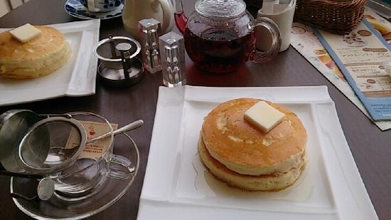 大江ノ郷自然牧場ココガーデンのパンケーキ