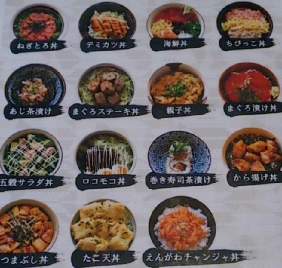 回転寿司「鮨屋びっぐ」食べ放題ミニ丼マップ