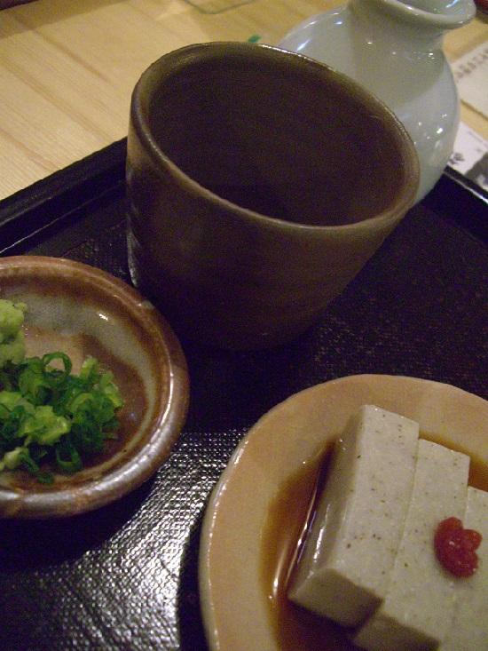 生そば「日進月歩」のそばがき豆腐
