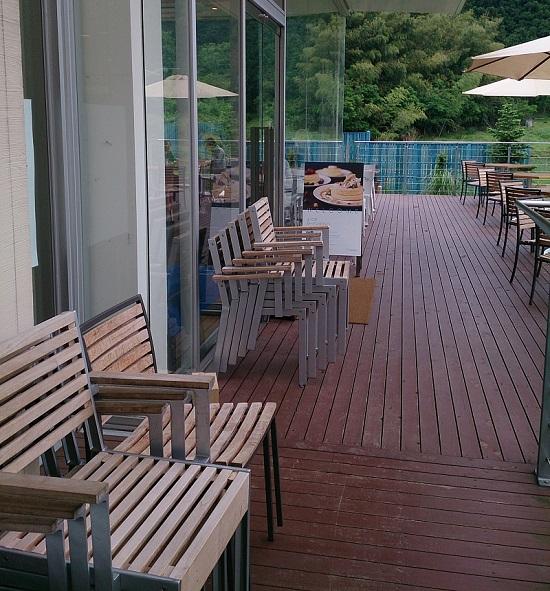 大江ノ郷自然牧場ココガーデンのテラス