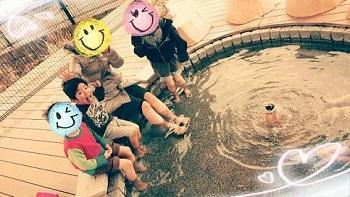 湯郷温泉の無料の足湯