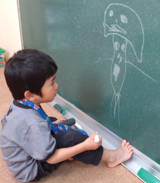 子供の落書き