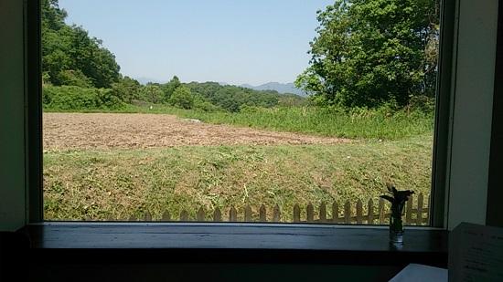 リストランテ シエロ「CIELO」の窓からの景色