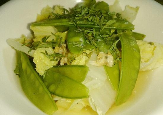 乾燥人参の葉っぱ「パセリの代用品」スープ