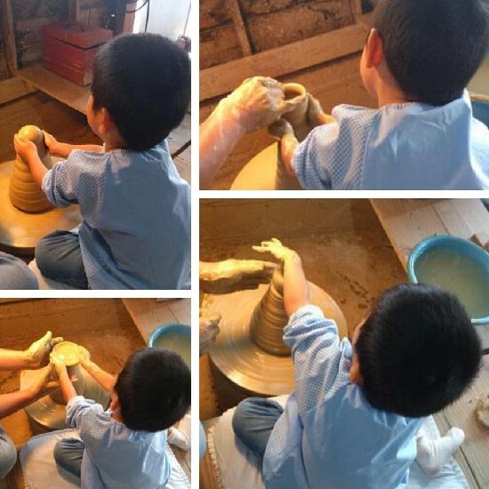 陶芸体験教室(4歳児ろくろ体験)