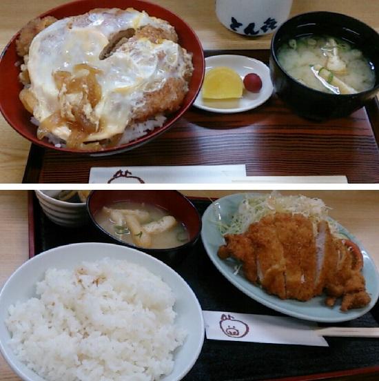 とん喜(とんき)のカツ丼とトンカツ