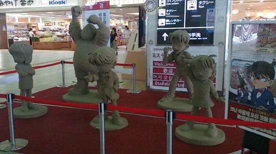 鳥取駅の名探偵コナンの砂像