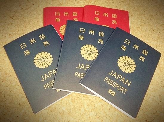 日本のパスポート(5年用と10年用)
