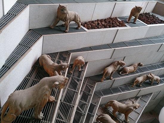 ガーデンズバイザベイの動物モニュメント