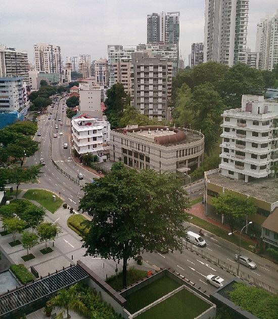 ラマダシンガポールホテル(Ramada Singapore at Zhongshan Park)室内からの景色