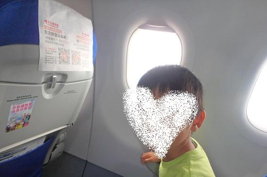 中国東方航空の飛行機内