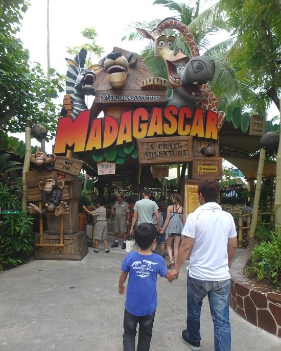 ユニバーサルスタジオ シンガポールのMadagascar(マダガスカル)エリア