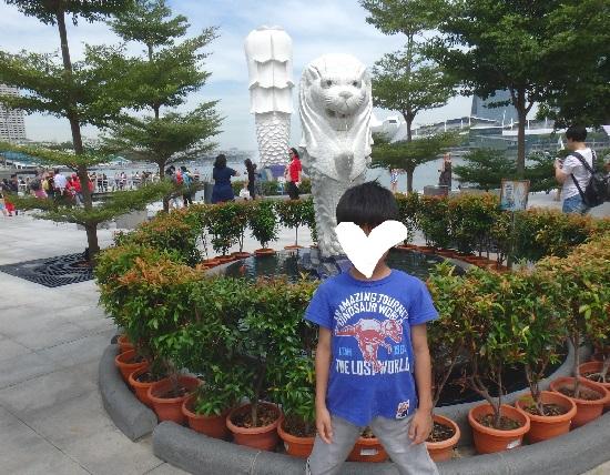 シンガポールマーライオンパークの小さいマーライオン