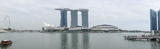 シンガポールマリーナエリア(フライヤー・マリーナ・ベイ・サンズ・マーライオン)の風景