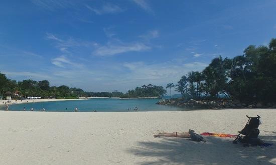 シンガポールセントーサ島のパラワンビーチ