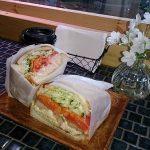 花屋さんがしている「はなうりカフェ」萌え断サンドイッチ(津山市)