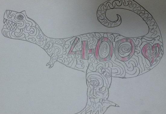 10円でオーダーした画像(ティラノサウルス)