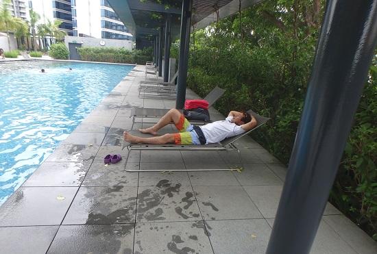 ラマダホテルシンガポールのプール