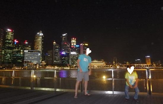 シンガポールマリーナエリアからみる夜景