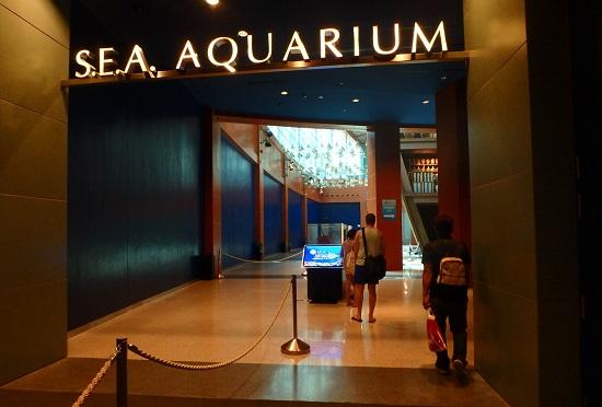 シーアクアリウム(シンガポール)水族館の入口