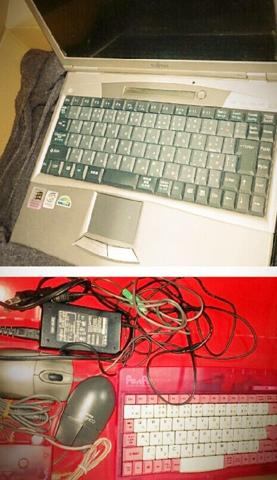 古いパソコンと周辺機器