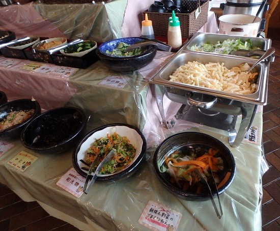 奈義町「那岐山麓山の駅」バイキングレストラン