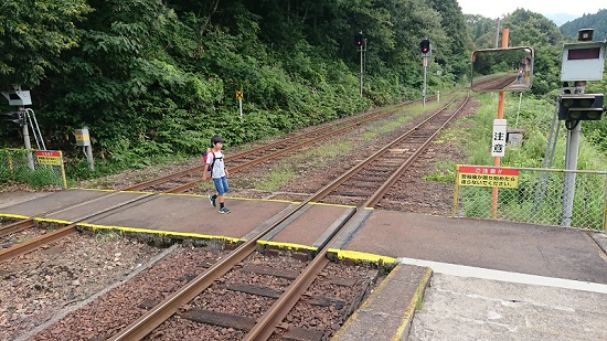 因美線那岐駅の線路