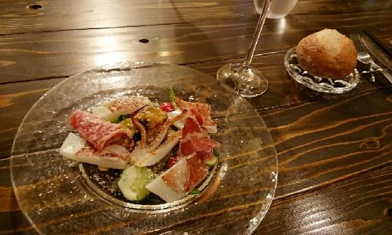 イタリア食堂アモーレのディナー(前菜)