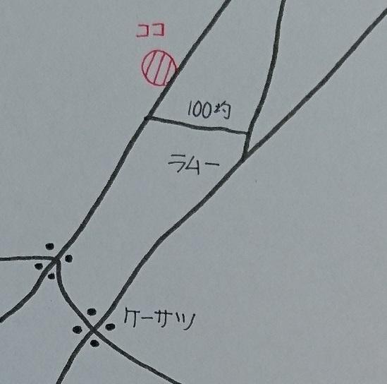 そばの細道やま江の地図