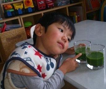 おいしい青汁と5歳児