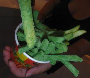 ワサビ味のフライドポテト