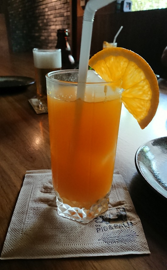 the PIG & PALM(ピッグ&パーム)のオレンジジュース