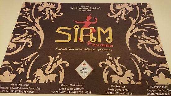 SIAM Thai Cuisine(サイアム)セブ
