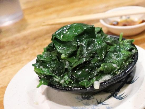 HARBOUR CITY(ハーバーシティ)の青菜のニンニク炒め GARLIC VEGETABLES