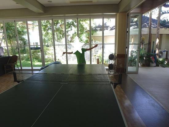 Jパークアイランドリゾート&ウォーターパークで卓球