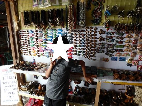 モアルボアル(セブ島)お土産屋