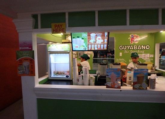 Jセンターモール(JCENTRE Mall)のフードコートにあるGUYABANO(グヤバノ)シェイク