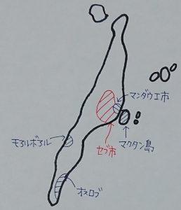 セブ島・マクタン島の手書き地図