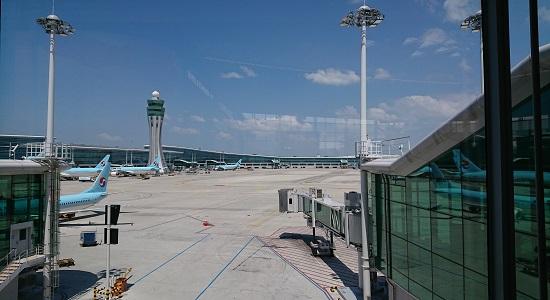 仁川空港にとまっている大韓航空(Korean Air)