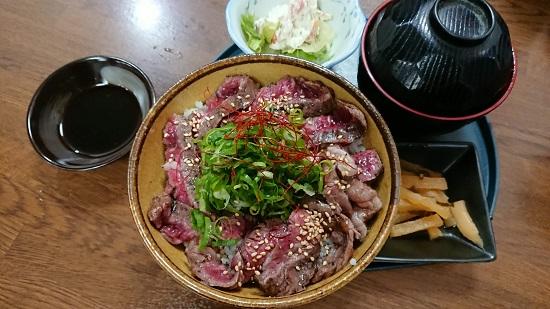 北海(居酒屋)ランチ「ステーキ丼」
