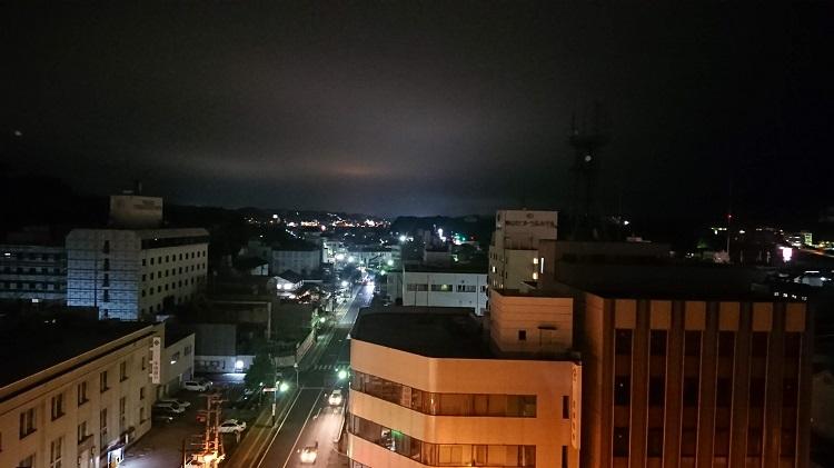 燻製バルSOMSMO(サムスモ)からの津山の夜景