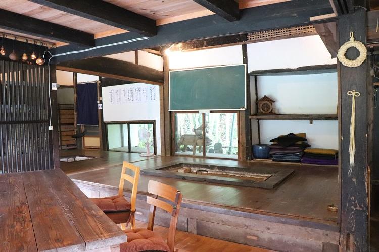 古民家カフェ「いちょう庵」店内