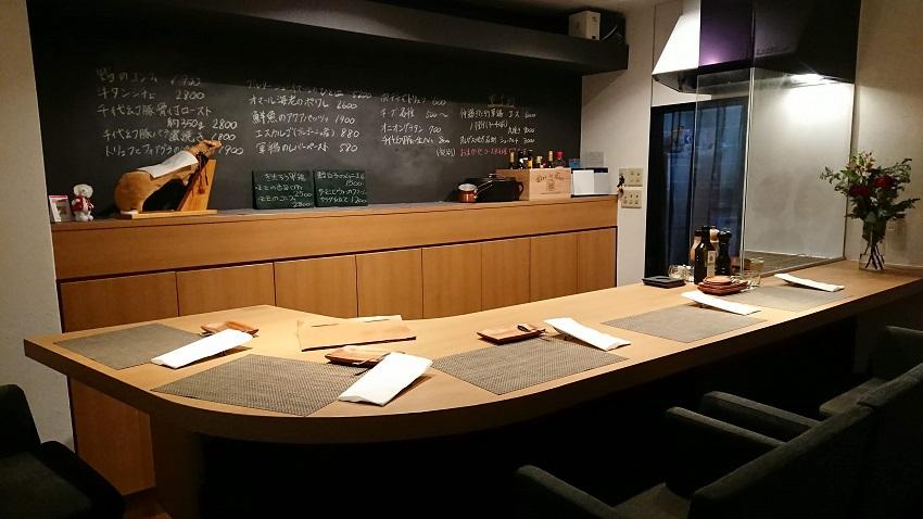 仏料理食堂シェオダ(chez Oda)店内